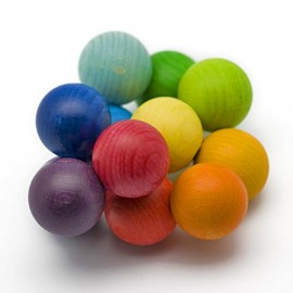 Sonajero de bolas de colores arcoíris