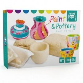 Recambio arcilla para cerámica paint & pottery