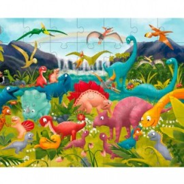 Puzzle gigante los dinosaurios, Ludattica