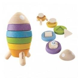 Cohete apilable, Plan Toys