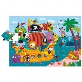 Puzzle gigante El barco pirata, Ludattica