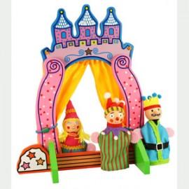 Teatro para marionetas de dedo