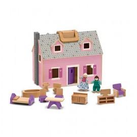 Casa de muñecas plegable y portátil