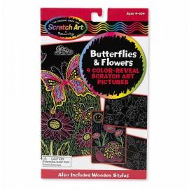 Scratch Art Mariposas y flores