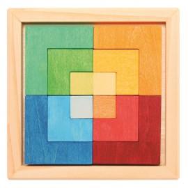Puzzle Creativo Cuadrado con plantillas, Grimm's