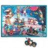 Puzzle encajable musical 7 piezas Space Motion, Janod
