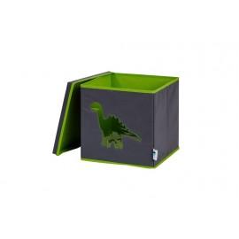 Cubo de almacenaje Dino Gris