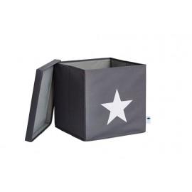Caja de almacenaje Gris Estrella Blanca