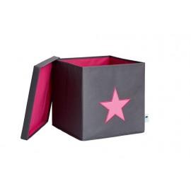 Caja de almacenaje Gris Estrella Rosa