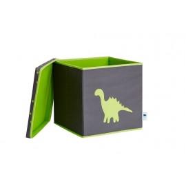 Caja de almacenaje Gris Lunares Dino Verde
