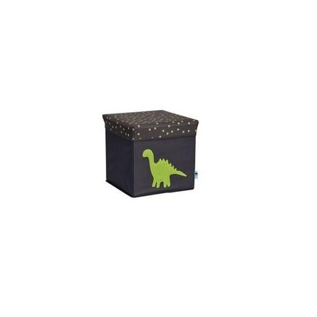 Caja de almacenaje Gris Lunares Elefante Azul