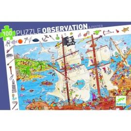 Puzzle Observación Los Piratas 100 pzs., Djeco