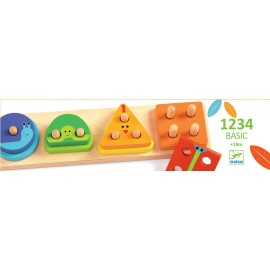 Encajable 1 2 3 4 Basic, Djeco