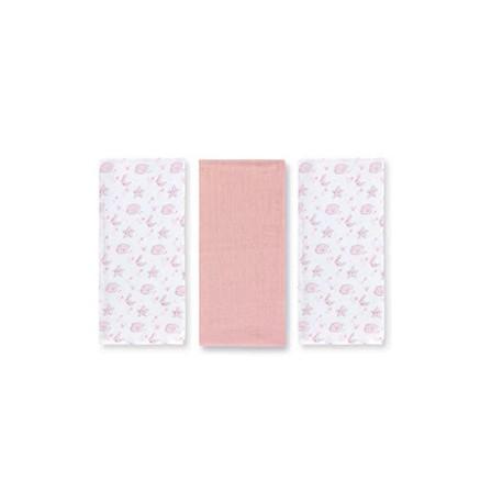Pack 3 Muselinas 80x80 Pirulos Osito Estrellas rosa