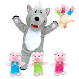 Set de marionetas El lobo y los 3 cerditos, Fiesta