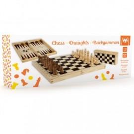 Estuche ajedrez damas y backgammon, Eurekakids