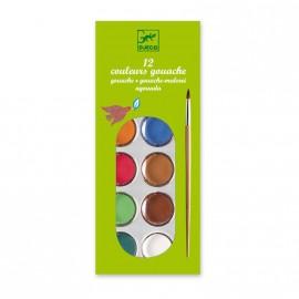 Acuarelas clásicas, 12 colores, Djeco