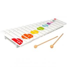 Xilófono de madera blanco confetti, Janod