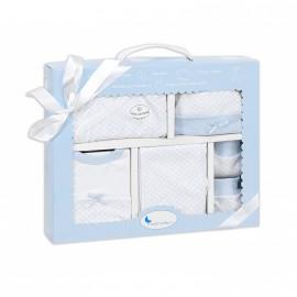 Set de regalo 5 piezas Recién nacido azul, Interbaby