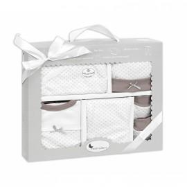 Set de regalo 5 piezas Recién nacido beig, Interbaby