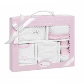 Set de regalo 5 piezas Recién nacido rosa, Interbaby