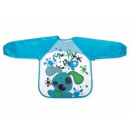 Babero con mangas estampado azul, Interbaby