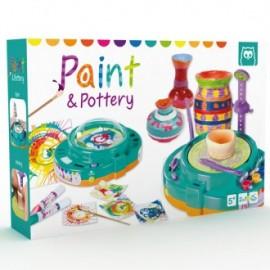 Taller de pintura y cerámica 2 en 1, Paint & Pottery