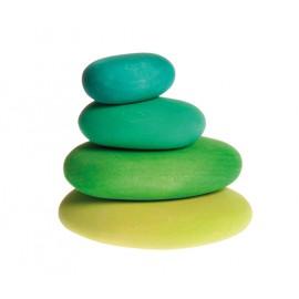 Piedras de madera en tonos verdes, Grimm's