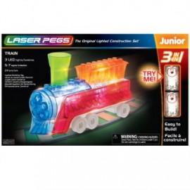 Tren 3 en 1 junior 24 piezas, Laser Pegs