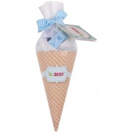 Cono de helado Doudou coche Azul, Minene