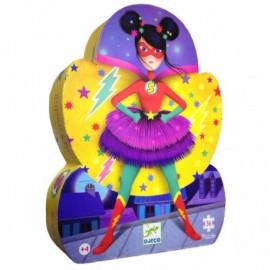 Puzzle Silueta Super Star 36 pz., Djeco