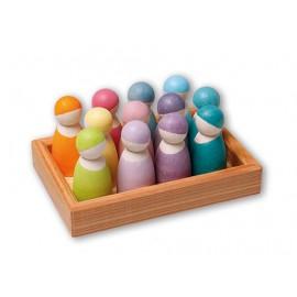12 Amigos del arcoíris pastel, Grimm's