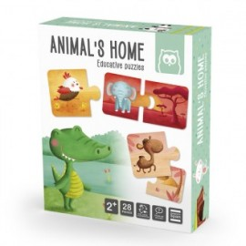 Puzzle animal's home, EurekaKids