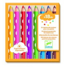 8 lápices de colores para los pequeños, Djeco