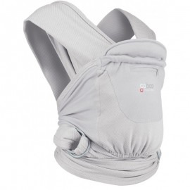 Mochila fular Caboo Carrier algodón Organic Pearl, Close Parent